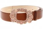 Brown Belt With Baroque Effect Buckle