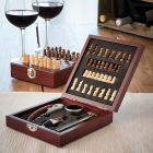 Caseta Deluxe de sah si set accesorii vin