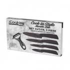 Set 5 cutite Cook in Style HR F4MS05 Negru Ceramic