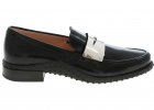 Black Loafers With Metal Penny Bar
