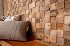 Panouri decorative din lemn reciclat Reclaimed Cube 7 pl ci 21 5x50 5c