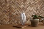 Panouri decorative din lemn reciclat Reclaimed Herringbone 8 pl ci 21