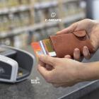 Portofel Carduri RFID din piele cu buzunar de monede