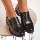 Pantofi Casual Dama Piele Ecologica Piele Ecologica Lacuita Argintii R