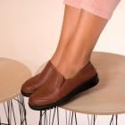 Pantofi Casual Dama Piele Ecologica Maro Brandy B9931