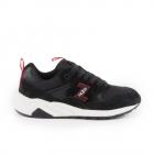 Pantofi sport femei Thezeus negri cu rosu din piele intoarsa 3730DPS25