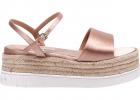 Miu Miu Pink Satin Sandals