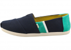 Classic Espadrille Shoes In Navy Green