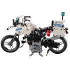 Motocicleta de politie din blocuri de constructie 539 bucati