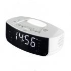 Ceas digital de birou LTCR03 Ecran LED Alarma Rradio FM Alb