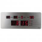 Ceas LED TL2510 slim cu calendar alarma si termometru Argintiu