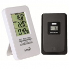 Termometru HC11 Cu ceas Afisare temperatura exterior interior Alb