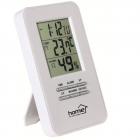 Ceas HC13 cu termometru si higrometru Alarma Alb