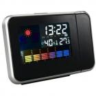 Ceas KH 0123 LED cu proiector ora Higrometru Termometru Calendar Alarm