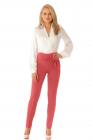 Pantaloni Pretty Girl eleganti corai cu funda stilizata