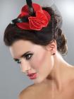 Palarie Mini top hat model 7 Rosu