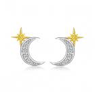Cercei din argint Little Half Moon