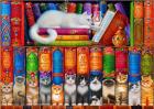 Puzzle Bluebird Puzzle Cat Bookshelf 1 000 piese Bluebird Puzzle 70216