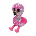 Plus TY Beanie Boos cu paiete PinkyFlamingo15cm