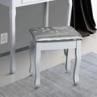 SCA101 2 Scaun tapitat Alb masa toaleta taburet machiaj