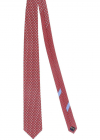 Chickens Patterned Tie In Red
