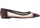 Fendi Pointed Ballet Flats In Brown And Black