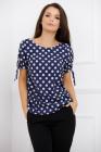 Bluza Carolina albastra cu buline