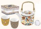 Set ceainic cu 2 cesti Paisley Abundance