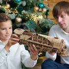Puzzle 3D Tren V Express cu abur din lemn Ugears