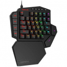 Tastatura Gaming Mecanica One hand Diti RGB Black