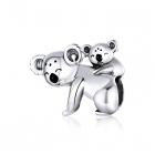 Talisman din argint Koala Family