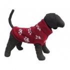Pulover rosu tricotat pentru caini Vesto 20 cm