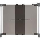 Poarta de siguranta extensibila DesignLine ClearVision 74 100 cm alumi