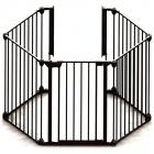 Tarc de siguranta modular cu 5 panouri metal negru
