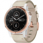 Smartwatch Fenix 5s Plus Sapphire Roz Si Curea Piele Alb