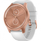 Smartwatch Vivomove Style Rose Gold Si Curea Silicon Alb