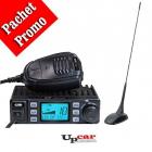 Pachet statie radio auto CB CRT Xenon squelch automat Antena CB PNI Ex