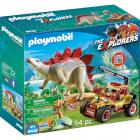 Set de Constructie Masina de Teren si Stegosaurus Cercetatori