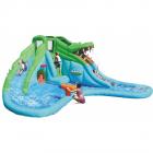 Saltea gonflabila copii Crocodil cu tobogan cu apa