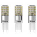 Set 3 becuri LED 1 9W G9 Bi pini 2700K lumina calda 200 lumeni A