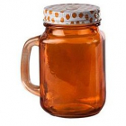 Halba tip borcan portocalie plus capac perforat 400 ml