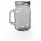 Halba tip borcan transparenta plus capac perforat 400 ml