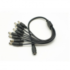 Cablu de alimentare tip splitter LN EC801 8 Iesiri Black 10 Buc