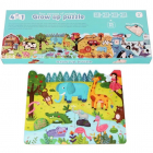 Puzzle 4 in 1 Sezoanele Animalelor 94 piese