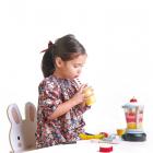 Set jucarii din lemn Blender pentru fructe 22 piese