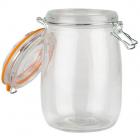 Borcan depozitare sticla cu capac 1000 ml