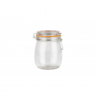 Borcan depozitare sticla cu capac 750 ml