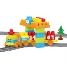 Set de Constructii cu Trenulet 58 Piese