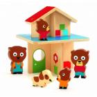 Casa lemn colorat