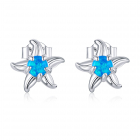 Cercei din argint Amazing Blue Starfish